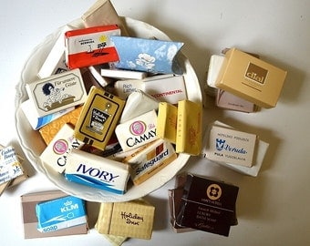 lot of 54 vintage guest soaps hotel soaps small soaps collectible soaps travel soaps