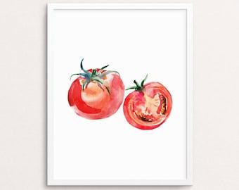 Tomatoes Printable, Kitchen Wall Art, Tomatoes Wall Art, Culinary Print, Tomatos Decor, Kitchen Artwork, Tomato Printable, Vegetable Print