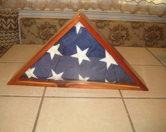 FLAG DISPLAY for military burial flag