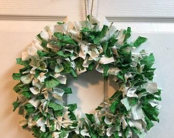 Fabric Rag Wreath