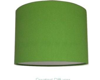 Lime Greem  Drum Lightshade With Diffuser  / Various Sizes / 40cm / 45cm / 50cm