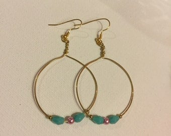 Hand-made wire wrapped hoops