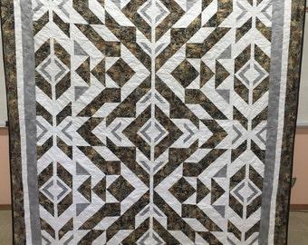 Bravo Indigo quilt - queen size quilt - bravo quilt - indigo quilt