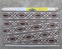 Huge Quantity!!! Over 24 metres Vintage Retro Flemish Passementerie Trim Braid Edging, Brown/White