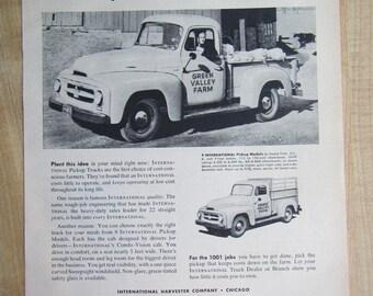1954 INTERNATIONAL PICKUP TRUCKS , 9 pickup models  magazine ad