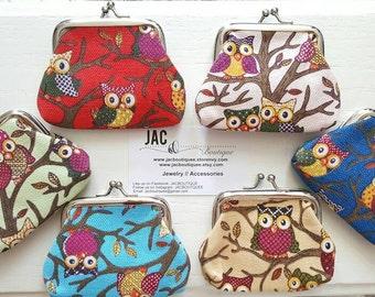 Owl Coin Purses - 6 colors