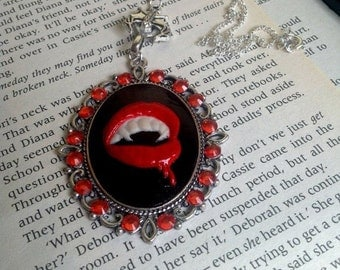 Vampire Cameo Necklace