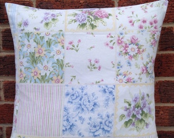 "Patchwork Floral 16"" Cushion Cover Shabby Chic,Country Cottage, Vintage Style"