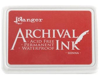 Ranger Archival Ink Sienna - Orange Ink - Archive Ink - Orange Archive Ink - Ranger Orange Ink - Permanent Orange Ink - Waterproof Ink