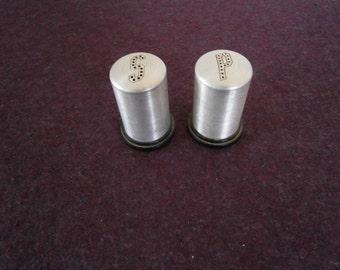 MCM Aluminum Salt Pepper Black Plastic Vintage