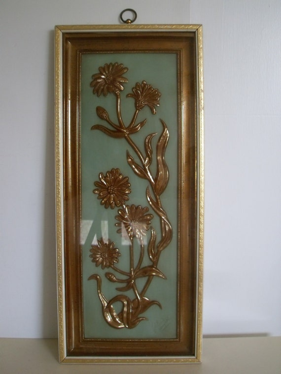 colbertaudrey73 - Mid-Century Wall Plaque, TMC Chicago, Gold Art ...