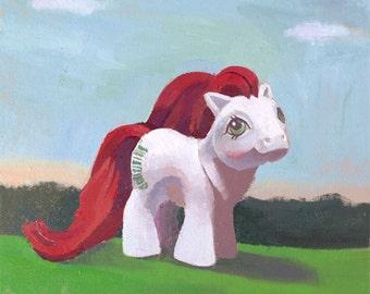 My Little Pony Vintage G1 Baby Stockings 8 x 7 Print