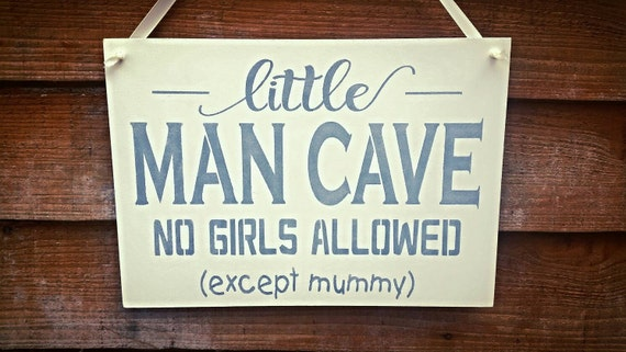 Little Man Cave Signs : Little man cave sign wooden