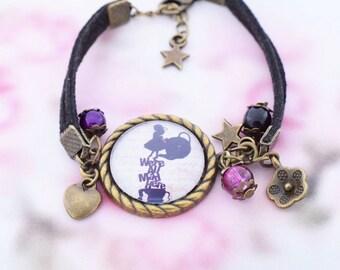 """Bracelet """"Alice"""" gem cabochon glass"""