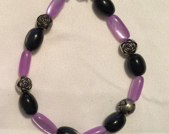 CLEARANCE... Purple, black and silver