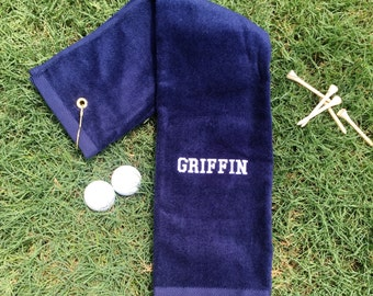 Personalized Golf Towel - Embroidered Golf Towel - Fathers Day Gift - Groomsman Gift - Golf Gift - Gifts for Him - Gifts for Dad - Dad Gift