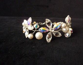 Bridal Bracelet, Wedding Bracelet, Bridal Jewelry, Wedding Jewelry, Swarovski Crystals