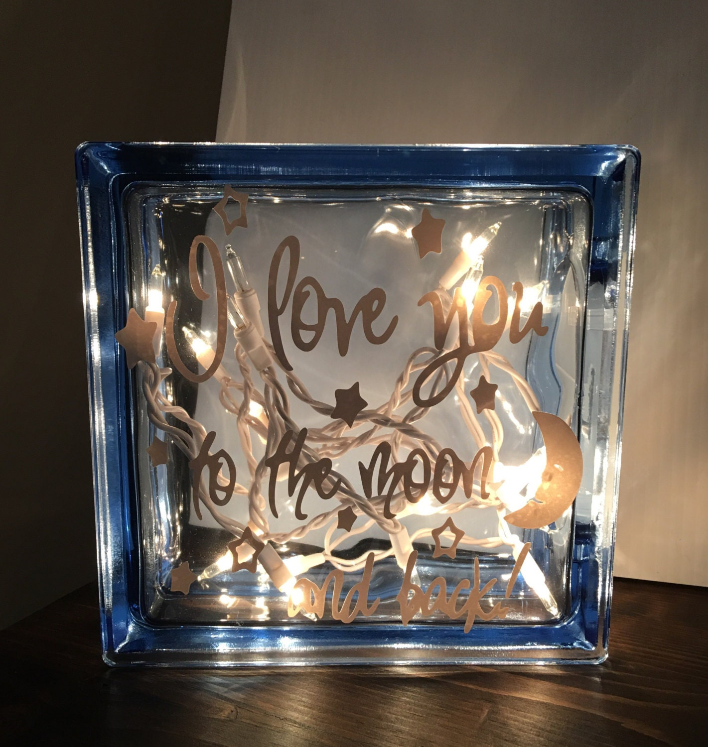 Glass Block Light by SayitwithaSignMB on Etsy