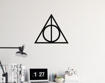 Deathly Hallows Decal - Harry Potter Decal / Vinyl Decal / Laptop Decal