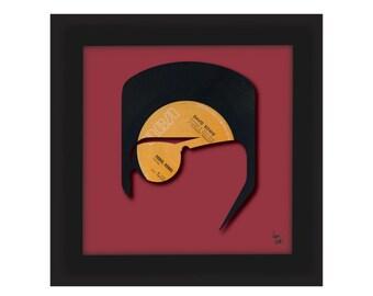 David Bowie - Rebel Rebel - Vinyl Record Art   FREE UK Delivery