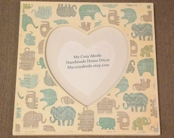 Elephants Picture Frame