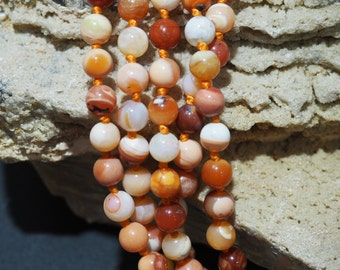 Natural Mexican Fire Opal 6mm Round Beads