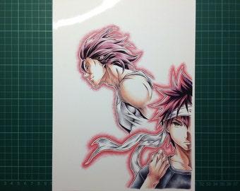 Yukihira Souma & Joichiro Saiba drawing print