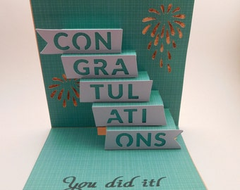 Congratulations pop up card