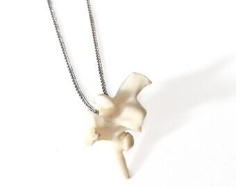 Pendant Necklace with Snake Vertebra Bone Bead