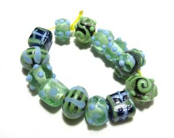 1 Strand Handmade Glass Lampwork Beads (B57-15)