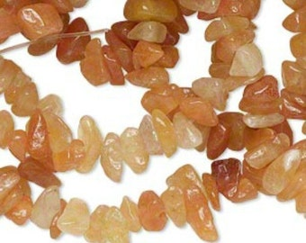 "34"" Strand Natural Red Adventurine Chip Beads (B10)"