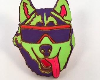 90's Party Husky Pin