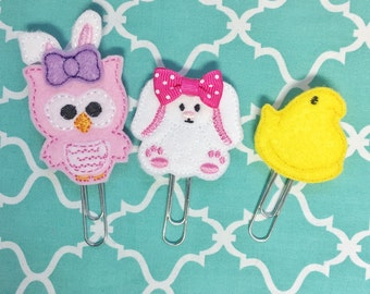 Easter planner notebook clips, your choice