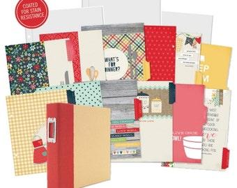 Recipe Book, Recipe Layout, Receipe Premade pages, Scrapbook Premade, Scrapbook Pages, premade scrapbook, Simple Stories