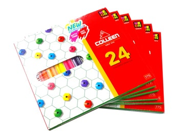 Colleen Pencils 24 Neon Colors Free Shipping