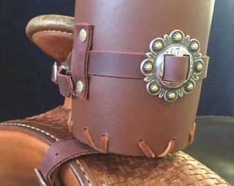 Leather Saddle Horn Drink Holders