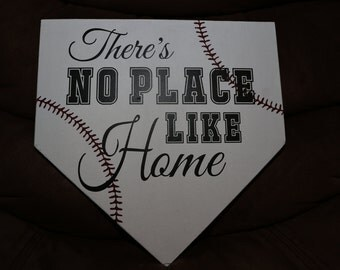There's No Place Like Home, Baseball Homeplate Plaque, Baseball Homeplate Sign, Baseball Plaque, Baseball Sign, Home Plate Plaque