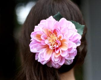 Pink Dahlia Clip