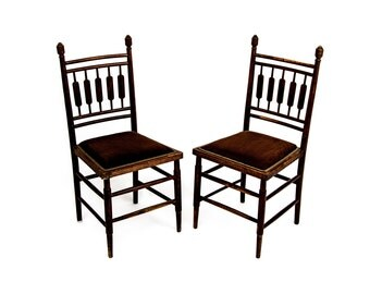 Antique English Paddle Back Side Chairs