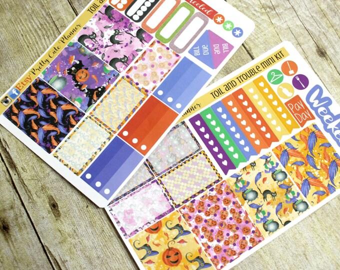 Planner Stickers - Weekly Planner Sticker Set - Erin Condren Life Planner - Happy Planner - Day Designer- Halloween Planner Stickers