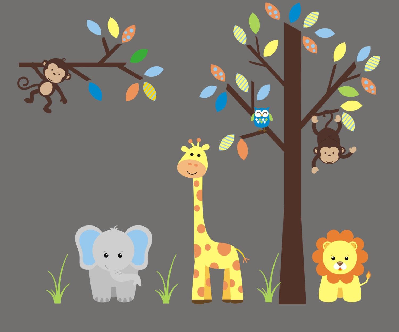 wall decals nursery safari animal stickers wall