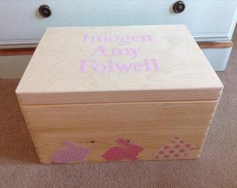 Natural Wood Keepsake Box