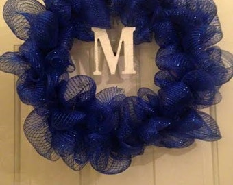 Mesh Wreath with Initial