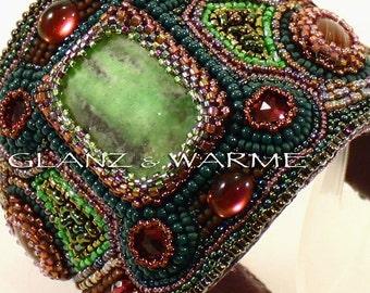 """Bracelet """"Plum Garden"""" - beadwork"""