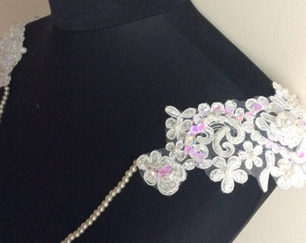 Delice// Bridal Shoulder Necklace// Bridal Accessory// Bridal Lace