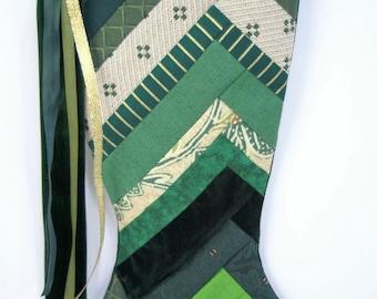 Handmade Patchwork Christmas Stocking (item RB167)