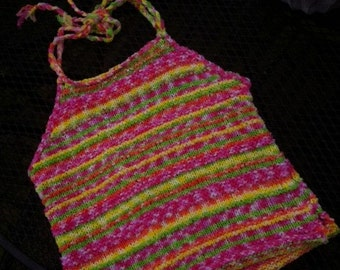 Summer halter top for girls