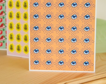 Blueberry Card, Fruit Cards, Just Because Card