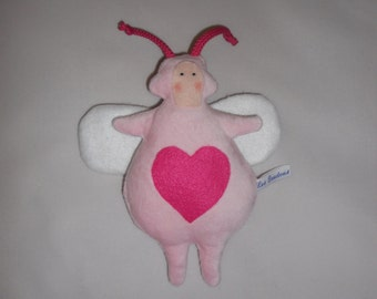 BUZ Buz heart, pink velvet and felt