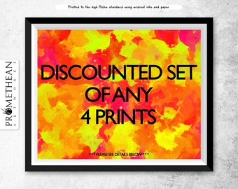 Discounted set of any 4 prints